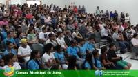 Plenário da Câmara de vereadores fica lotado para audiência pública sobre suicídio em Juína